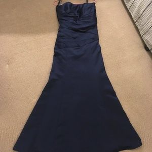 Navy Alfred Angelo Bridesmaids Dress (Style 7006)